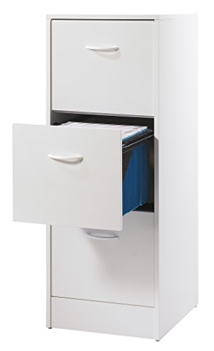 Simmob-MATHA413BL-Classeur-de-3-Tiroirs-pour-Dossiers-Suspendus-Bois-Blanc-44-x-414-x-1084-cm