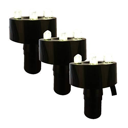 Köhko 3er-Set LED-Ring-Beleuchtung inkl. 2 Meter Anschlusskabel für Quellsteinbrunnen 29002-3er Warmweiß