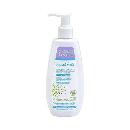 Téane - Douceur Lavante DERMABÉBÉ - Notre gel lavant bébé certifié bio convient parfaitement à la toilette de bébé et ne dessèche pas sa peau, et au contraire la rend toute douce - Flacon 250ml