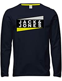 Jack & Jones Jcoshaun tee LS Crew Neck Fst Camiseta para Hombre
