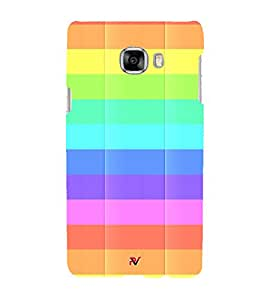MULTICOLOURED CHECK PATTERN 3D Hard Polycarbonate Designer Back Case Cover for Samsung Galaxy C5