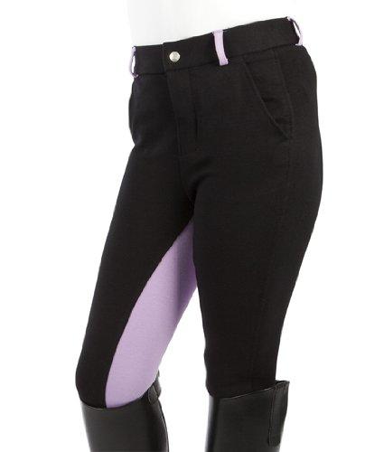 PFIFF Kinder Reithose Elisa, schwarz (Black/purple), 146