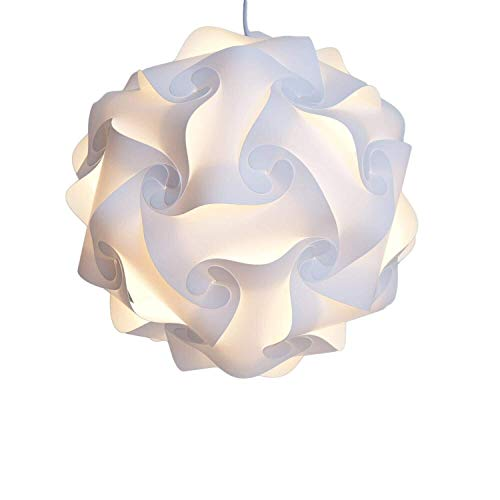 Puzzle lámpara DIY colgante para decoración del hogar blanco XL y # xFF08; 40cm y # xFF09;