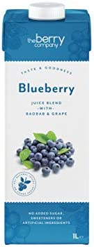 The Berry Company Blueberry Juice Blend with Baobab & Grape, 1 L