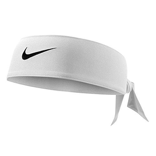 Fascia Tennis NIKE Dri-Fit Head Tie Swoosh capelli FEDERER NADAL bianco