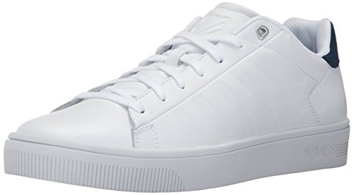 K-Swiss Herren Court Frasco Sneaker, Weiß (White/Dress Blues), 47 EU Herren Casual Dress Schuhe
