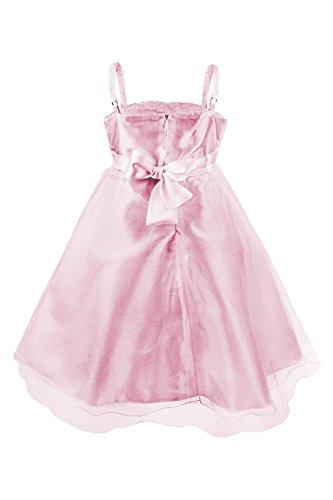 Imagen de princesas disney  vestido de verano de fiestas y gala con falda de tul, con cinturón de parlas y lazo para niña, color rosa brillante, 4 5 años  katara 1716  alternativa