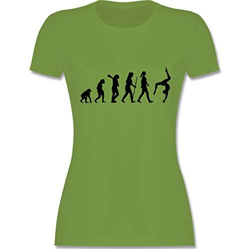 Evolution - Evolution Turnen - L - Hellgrün - L191 - Damen Tshirt und Frauen T-Shirt