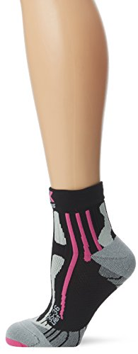 X-Socks Damen Socken RUN SPEED TWO LADY, Black/Fuchsia, 39/40, X020436