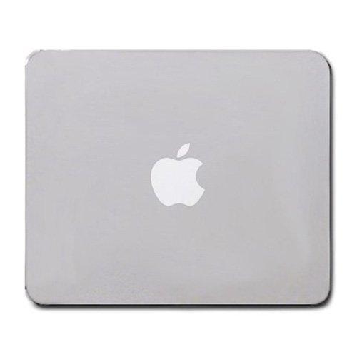 Apple Mouse Pad Grey Color with White Logo New Rectangular Non-slip Neoprene Rubber Standard 8