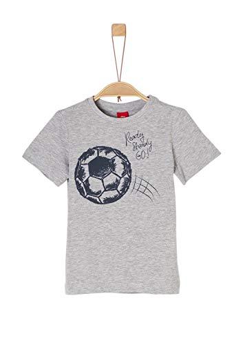 s.Oliver Junior Jungen 74.899.32.0522 T-Shirt, Grau (Grey Melange 9400), 128 (Herstellergröße: 128/134)