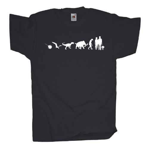 Ma2ca - 500 Mio Years - Hund Gassi gehen T-Shirt Charcoal