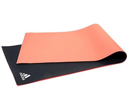 adidas ADYG-10640RDGR Esterillas Yoga Reversible, Negro, 6 mm
