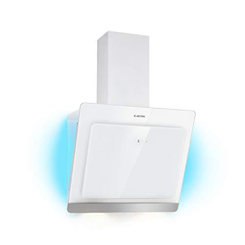 Klarstein Aurora Eco 60 • Wandabzugshaube • Kopffreihaube • Dunstabzugshaube • 60 cm • 550 m³/h Leistung • RGB-Farben • 59 dB leise • Umluft und Abluft • weiß