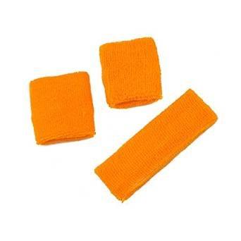 Orange Terry Cloth Sweatband Set