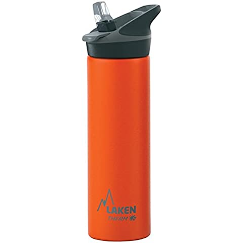 Bottiglia d'acqua termica Laken isolamento sottovuoto acciaio inossidabile bocca larga 750ml Arancione - Arancione Tappo Di Bottiglia