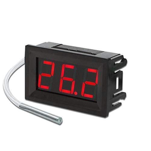 ter, Industrie Klasse Digital LED Thermometer, Thermoelement Panel Meter, Chemisch Beständig für Langlebigkeit und Einfache Reinigung rot Licht ()