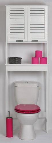 TENDANCE Mueble Para Baño WC   2 Puertas Y 1 Estante   Diseño Puro Y  Sencillo