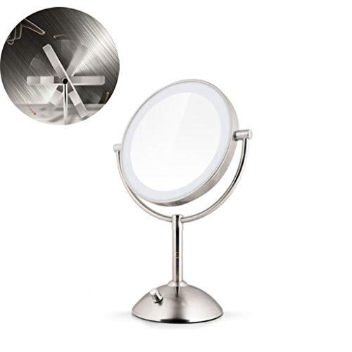 LYX Makeup Mirror Spiegel mit Beleuchtung 8-Zoll-LED-Lichtspiegel 3-fache Vergrößerung...
