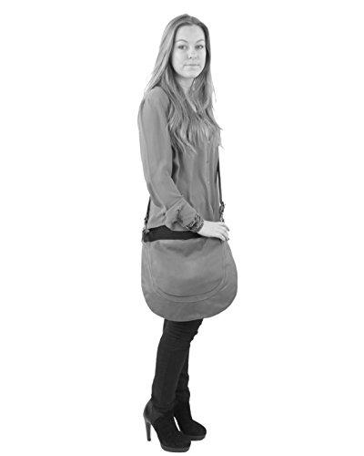 histoireDaccessoires - Borsa a tracolla Pelle Donna - SA147323RL-Dalila Nero