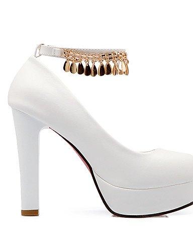 WSS 2016 Chaussures Femme-Bureau & Travail / Décontracté-Noir / Rose / Blanc-Gros Talon-Talons / Bout Arrondi-Talons-Polyuréthane black-us9.5-10 / eu41 / uk7.5-8 / cn42