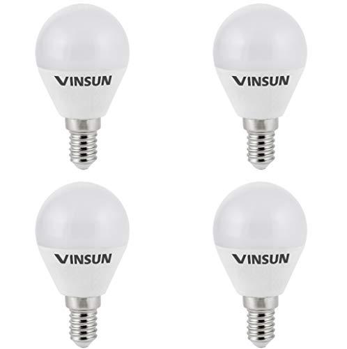 VINSUN® 4er Pack E14 LED Lampe 3W 250lm (Ersetzt 25W) [LED Leuchtmittel warmweiß 2700K, 160°, E14 LED Birne]