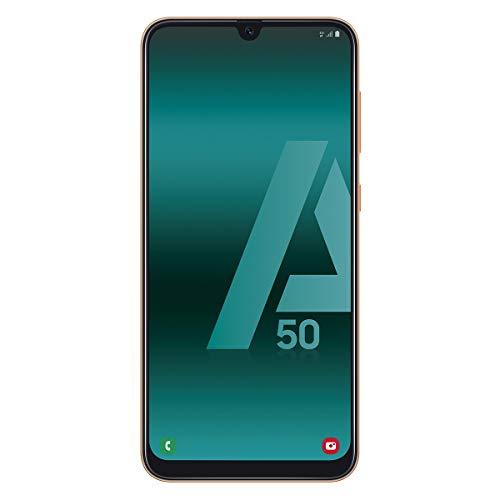 "Samsung Galaxy A50 - Smartphone de 6.4"" FHD sAmoled Infinity U Display (4GB RAM, 128GB ROM, 25MP, Exynos 9610, Carga rápida), Coral [versión española]"