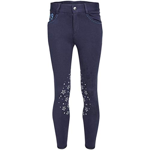 Busse Kinder Reithose Silikon Kniebesatz Kids Collection VI Navy (Stars) 140