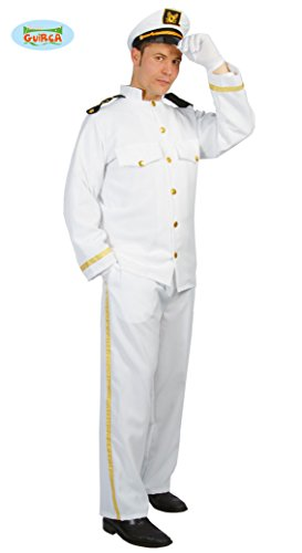 Costume Capitano Marinaio - Taglia Unica, Bianco