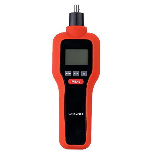 KKmoon Tachimetro Digitale,2 in 1 Senza Contatto & Contatto HT-522 Tach RPM...