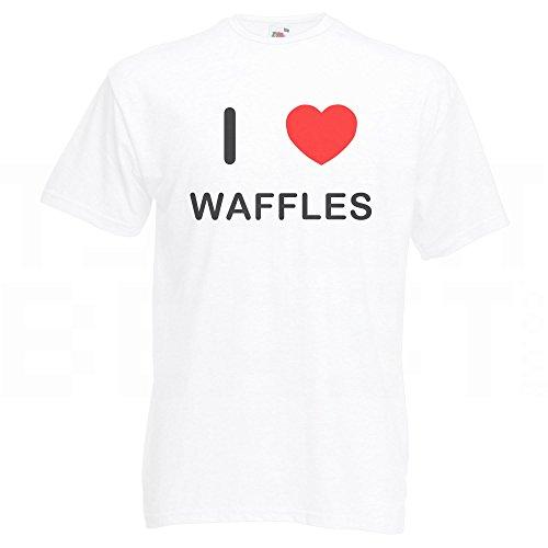 I Love Waffles - T-Shirt Weiß