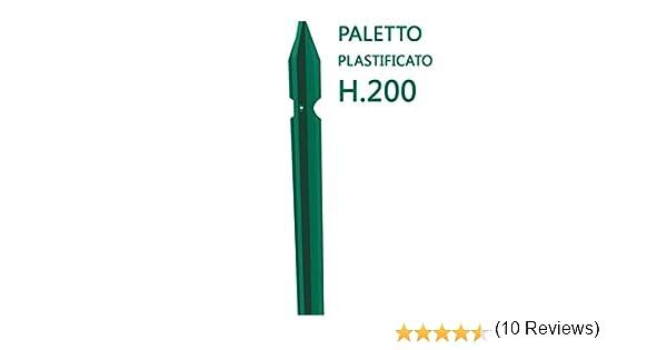 nextradeitalia 10PZ Saetta A L PLASTIFICATA per paletti per Recinzione Altezza 120 CM Verde