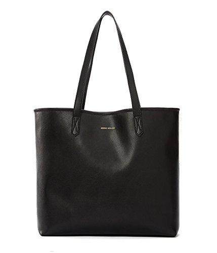 EMINI HOUSE Big Tasche Mikrofaser Light Fashion Handtaschen, Mikrofaser, schwarz, L -