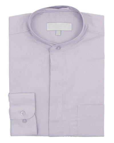 Chemise sans col Pour homme Argenté - Argent