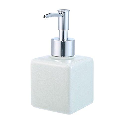 Seifen-lotion-massage-Öl (AOLVO Salon Shampoo Flasche, 240ml/320ml/400ml leer Dish Seifenspender Pumpe für Homemade Lotion, DIY Flüssigseife, body wash, Kastilien Seife, Seife, Massage Öle und mehr, lichtgrün, 7*7*14CM)