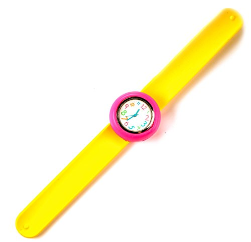 slap-watch-yellow-pink-fun-easy-to-read-watch-for-kids-gift-watches