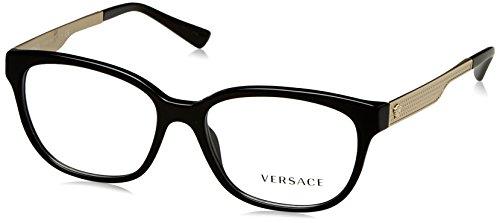 Versace - METAL MESH VE 3240, Rechteckig, Acetat, Damenbrillen, BLACK(GB1), 54/16/140