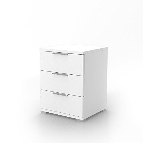 VICCO Nachtschrank Kommode Nachttisch Schrank Schublade Ablage Schlafzimmer (Weiß)