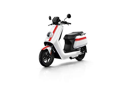 NIU N GT Scooter Elettrico - Panasonic Batteria agli ioni di Litio - Motore Bosch - Portata 100 km - 70 km/h (Bianco/Rosso)