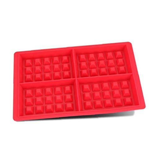 Bontand Rechteckige Waffel-Form 3D-Silikon-Kuchen-Seifen-Eiscreme-Schokoladen-Form DIY...