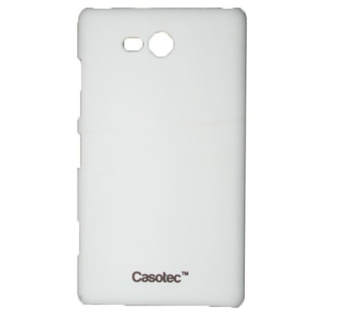 Casotec Ultra Slim Hard Shell Back Case Cover for Nokia Lumia 820 - White  available at amazon for Rs.125