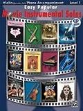Easy Popular Movie Instrumental Solos for Strings Book & CD Violin