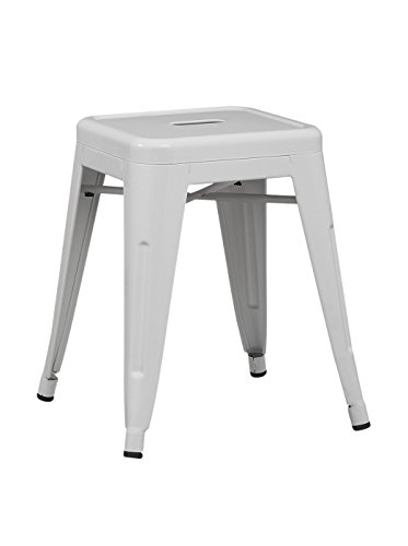 SuperStudio lo+demoda Ural - Taburete, Acero, 43 x 43 x 118 cm, Color Blanco