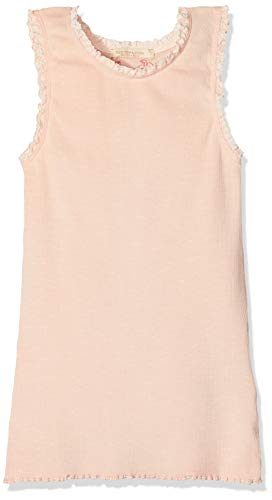 Scotch & Soda R´Belle Mädchen Top Basic Rib Tank with lace Details at Armhole and Neckline 149559, Gr. 116 (Herstellergröße: 6), Rosa (Pale Pink 188) - Rib Tank Top