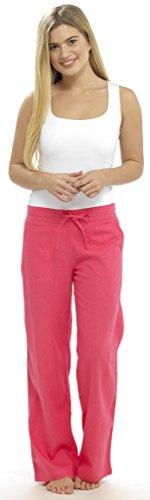 Pantalon d été pour femme, lin, coton et viscose, long, ceinture c6a6f9ce340