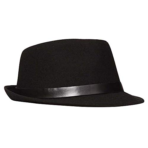c0274a58f OLIS,Cappello Fedora Feltro Uomo Classique Borsalino Panama Jazz Trilby  Cappelli,Black-OneSize
