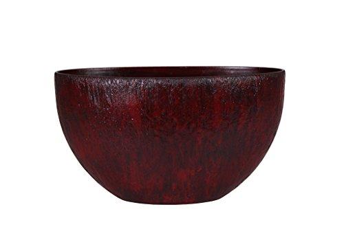 Universal Pot de fleurs, Coupe de fleurs Roto Pebble, résistant au gel et ultraléger, Rouge, 60x35cm