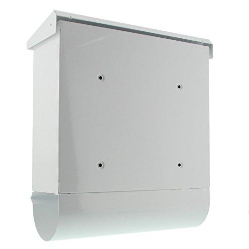 BURG-WÄCHTER, Briefkasten-Set mit integriertem Zeitungsfach, A4 Einwurf-Format, Verzinkter Stahl, Comfort-Set 91300 W, Weiß - 2
