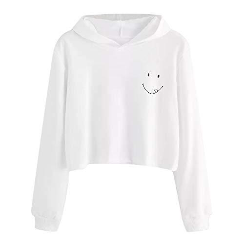 JUTOO Damen Herbst Langarm Hoodie Sweatshirt mit Kapuze -