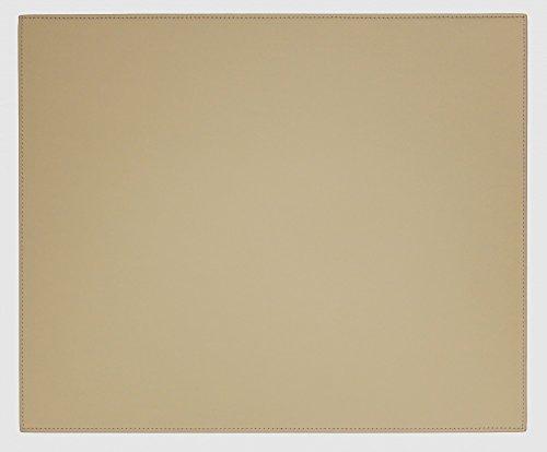 Dacasso Tischunterlage aus Kunstleder, 43 x 36 cm, Sandfarben (Florida-schreibtisch-kalender)